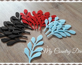 Felt woodland foliage 12 pcs.