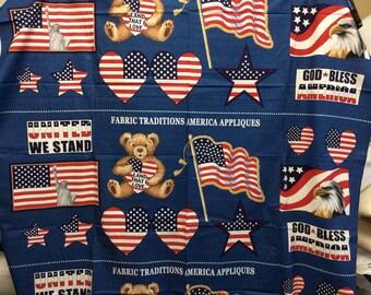 America Appliqués/ 1/2 Yard Panels/13 Appliqués