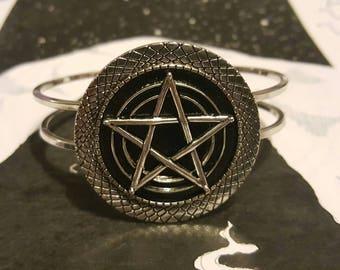 Pentagram Bangle Bracelet