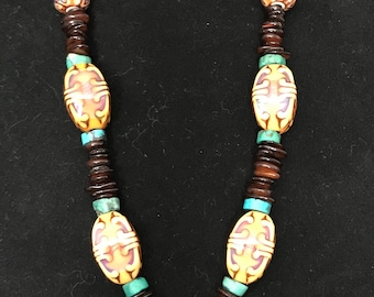 Chunky Amber Focal Necklace
