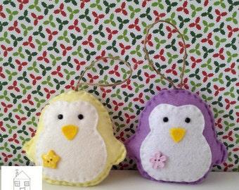 Christmas Penguin Felt Ornament