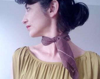 Brown light cotton scarf
