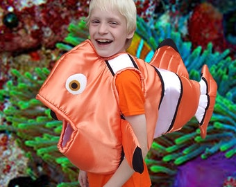 Cleo Fish Body Costume Satin covered foam body arm holes, fully lined