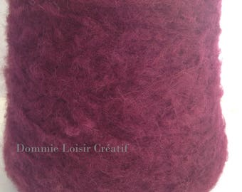 Large spool of wool Mohair Bordeaux 500g