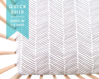 Crib Sheet Gray Freeform Arrows. Fitted Crib Sheet. Baby Bedding. Crib Bedding. Crib Sheets. Chevron Crib Sheet. Quick Ship.