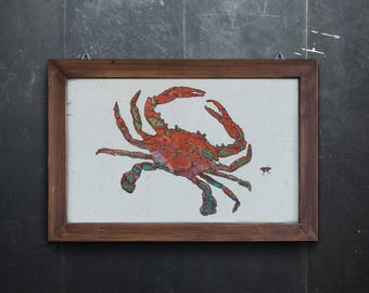 Crab Open Edition Fine Art Print from Original // Beach Art // 13 x 19, 11 x 14, 8.5 x 11, 8 x 10, 5 x 7