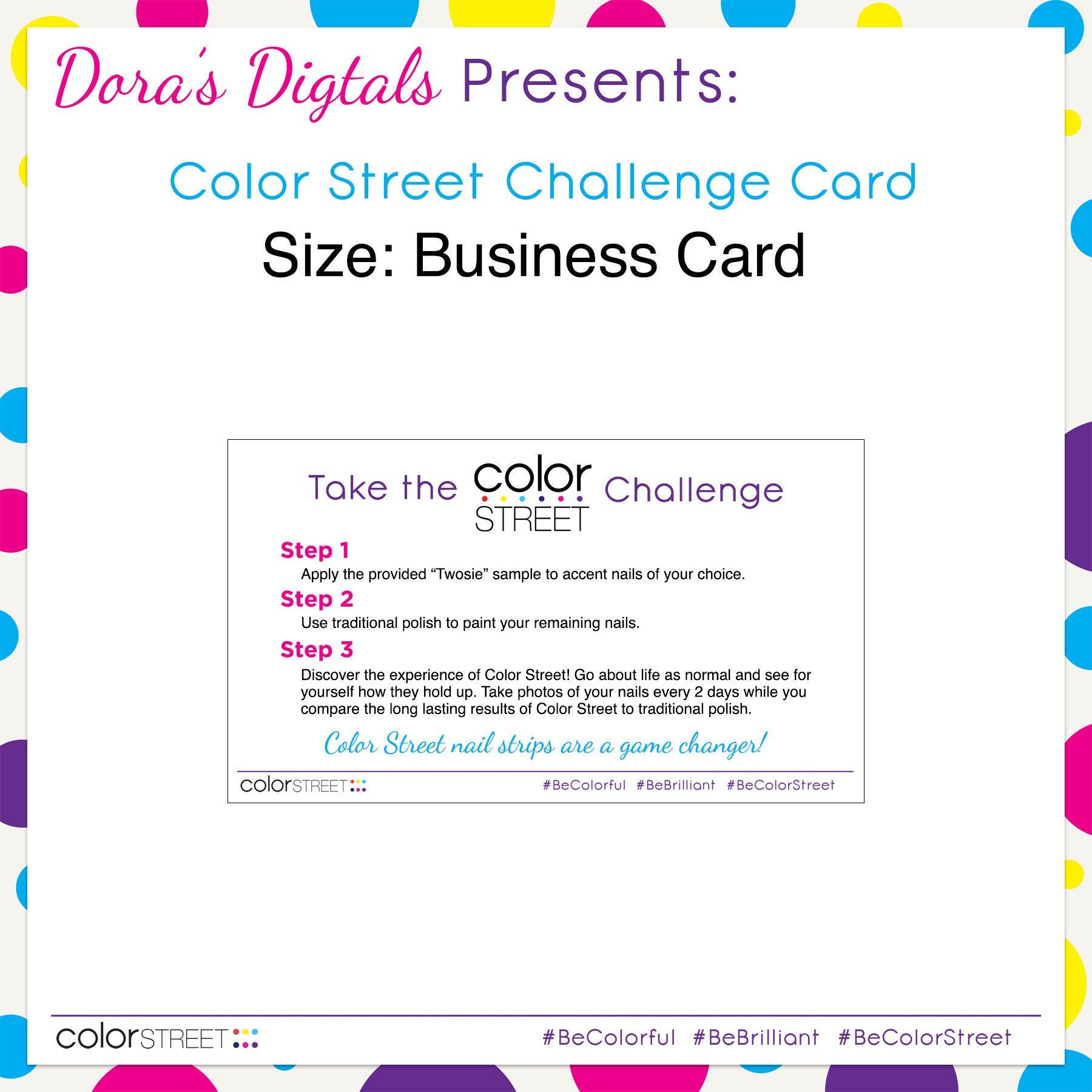 Color Street Challenge Card Instant Digital Download