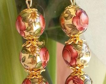 "BEADS Japanese ""TENSHA"" - earrings-"