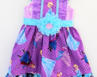 Frozen Princess dress,  Elsa dress, Anna dress, girls dress, boutique dress, toddler dress