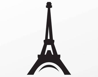 Decal Sticker Eiffel Tower tour Eiffel Paris France minimal design Vinyl 04168
