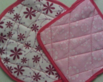 Set of Handmade Quilted Pot Holders