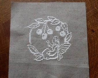 Embroidery theme: under the cherry tree fairy.
