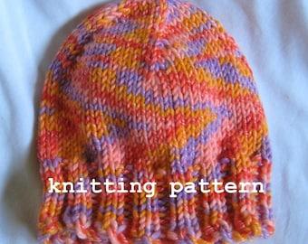 Knitting Pattern PDF - Wool Blend Beanie