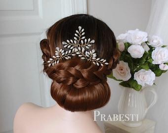 Bridal Hair Pins - Happy Fern Hair Pins Set/ Climbing Fern Set- Made to Order