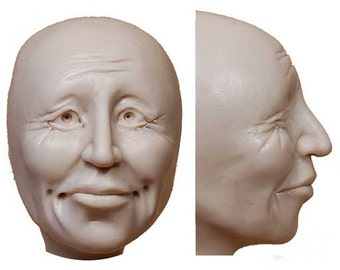Moldf7 - 2 inch face mold, Storykeeper Face, by Maureen Carlson