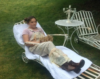 Fairytale Overalls Linen and Old Lace Shabby Farm ChicDelight