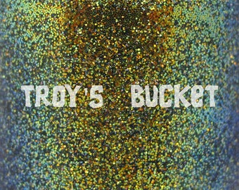 """Troy's Bucket chameleon glitter and holo flake nail polish 15 mL (.5 oz) from the """"Never Say Die"""" Collection"""