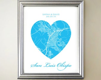 San Luis Obispo Heart Map