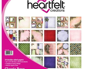 "Heartfelt Creations Classic Rose Paper Collection 12"" x 12"" HCDP1-270"