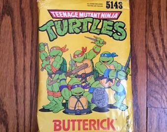 Butterick 5143 Girls'/Boys' TMNT Teenage Mutant Ninja Turtles Halloween Costume Sewing Pattern, Cut, Size S, M, L, Costume Pattern