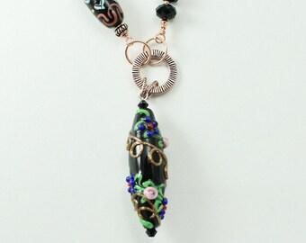 Ceramic & Copper Necklace
