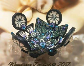 Fairy Jewelry Ring Necklace Mini Altar Bowl Dresser Nightstand Polymer Clay
