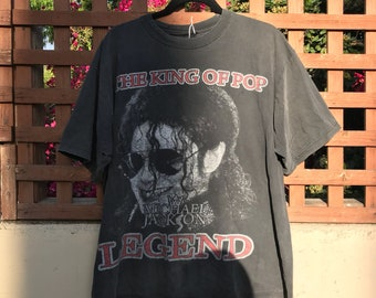 Vintage 90s Michael Jackson Graphic Tee Size Large