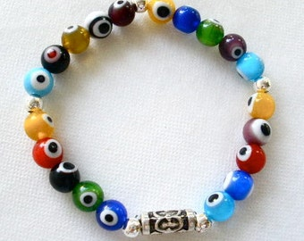 Magic Eye Bracelet,  Evil Eye Bracelet, Zen Jewelry, Evil Eye Beaded Jewelry