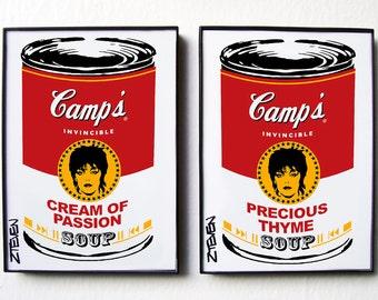 Pat Benatar Pop Art Soup, original framed art set by Zteven