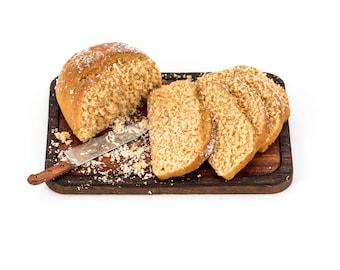 1/12 scale miniature whole wheat bread board 3