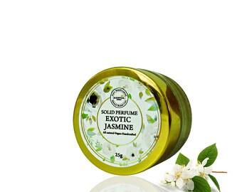 Jasmine Solid Perfume, Vegan Perfume, Natural Perfume, Gift Idea