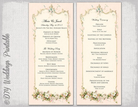 wedding order of service template manqal hellenes co