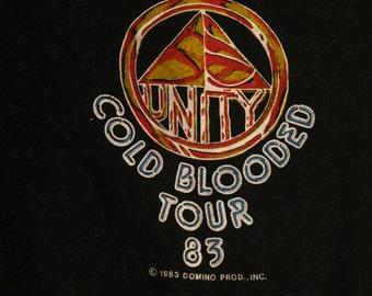 Super Rare! Rick James Concert T Shirt Sleeveless! Authentic Vintage 1983! Rick James ~ Cold Blooded Tour 1983