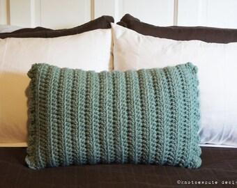 CROCHET PATTERN - Rectangular Decorative Pillow Cover - Instant Download (PDF)