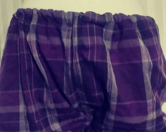 Black Purple Plaid Bloomers Goth Victorian Size Small