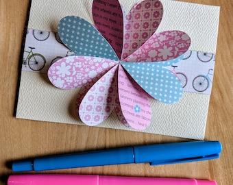 Romantic roses - greeting card - birthday - birthday - card - Invitation card - card invitation - Shower - floral heart