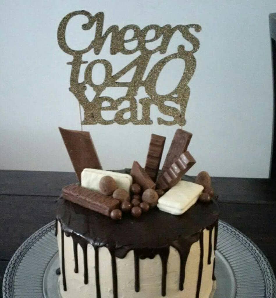 Cheers to 40 years Cake Topper Birthday Gift40 birhday party 30