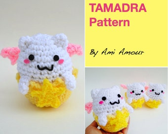 Tamadra pattern Puzzle and Dragons amigurumi crochet