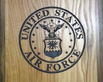 Custom Wood US Air Force Plaque
