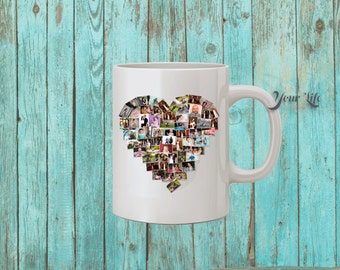 Photo Collage Mug - Have your collage design printed on a mug