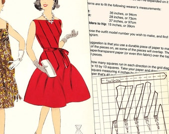 PDFs of vintage 60s sewing pattern system - 60 pages - Winter 1962 - instant download