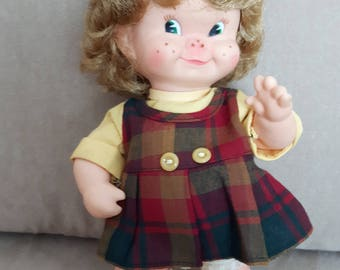 Vintage 1964 Regal Maple Leaf Doll Female with freckles