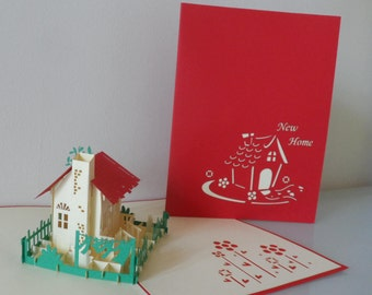New Home Pop up Card (sku068)