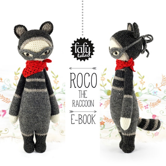 Mapache ROCO lalylala patrón de crochet / amigurumi