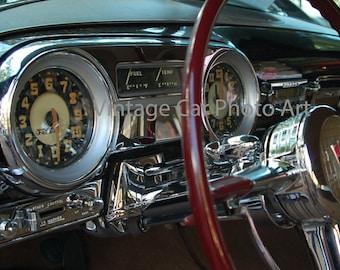 Hudson Hornet, Dashboard, Vintage Car, Classic Car, Instrument Panel, Chrome, Gauges, Garage Art, Man Cave, Antique Car, Printable Photo
