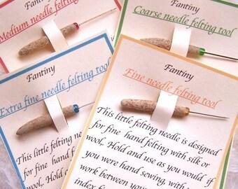Sale: Set of handcrafted needle felting miniature tools