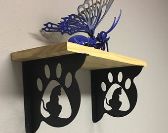 DECORATIVE CAT PAW Shelf Brackets (Set of 2)