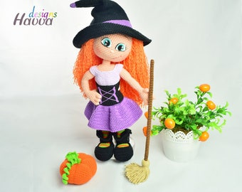 Crochet Pattern - Cute Witch (Amigurumi Doll Pattern)