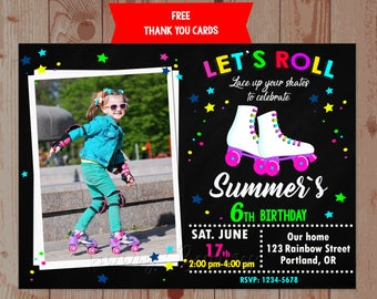 Roller Skating Invitation Roller Skating Party Invitations