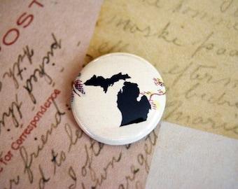 Michigan 1 Inch Button